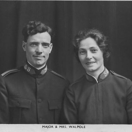 Majors George & Jean Walpole, parents of Douglas Walpole. They ran 'Eventide Homes' and travelled a lot, retiring to the cottages called Mount Zion. | via Sian Davies