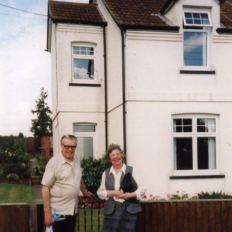 Douglas and Hilda Walpole outside their house at 8 Seaview Terrace.  | via Sian Davies
