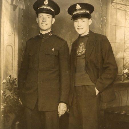 Father & Son. Major George Walpole and William Douglas Walpole, who wrote this article. | via Sian Davies