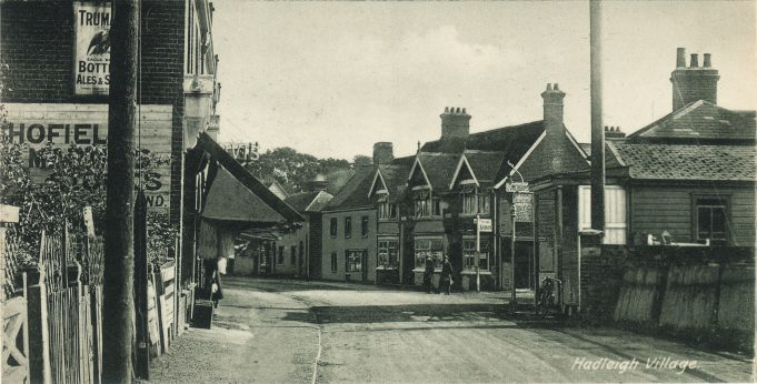 Another scene of Hadleigh High street with Schofield and Martin on the left.