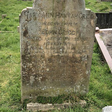 GRIGG family memorial, one of many interesting gravestones. | Graham Cook