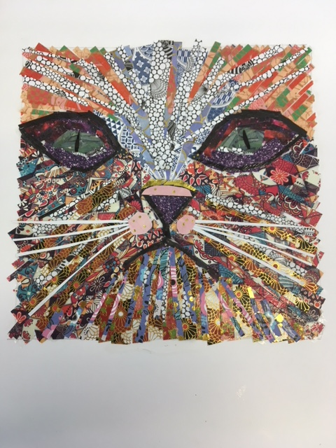Cat, collage by Allie | Open Arts