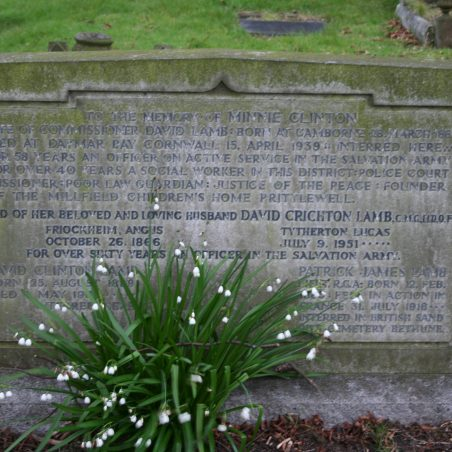 The Lamb family grave can be found in Leigh Cemetery, it is a very informative gravestone. | Graham cook
