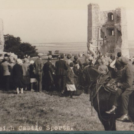 Here is another photograph showing a sports day event at the castle. | via Graham Cook collection