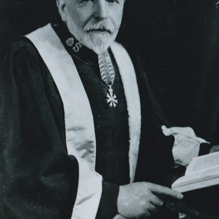 David Lamb pictured here in his Aberdeen University Robe and Doctor of Laws sash, 1934. | Salvation Army Archives.