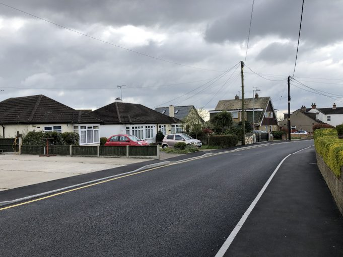 The new road surface and pavement is quite clear to see in this photo. | Graham Cook