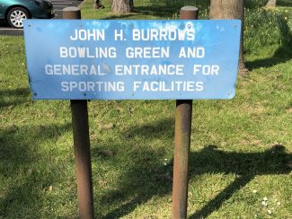 Signage at the John H Burrows playing field.