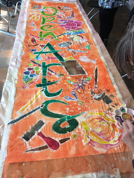 Silk and batik workshop with Sally Chinea and Open Arts Studio members