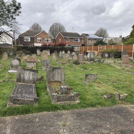 The Daws Heath graveyard looking west toward Western Road. | Graham Cook