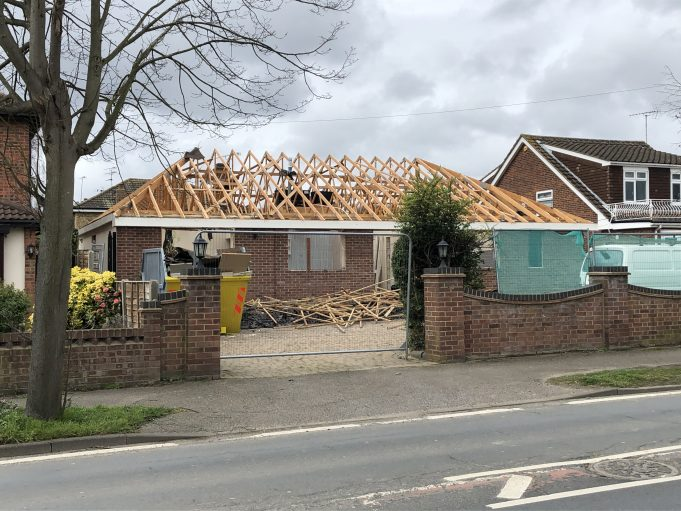 A bungalow in Western Road being demolished for re development. | Graham Cook