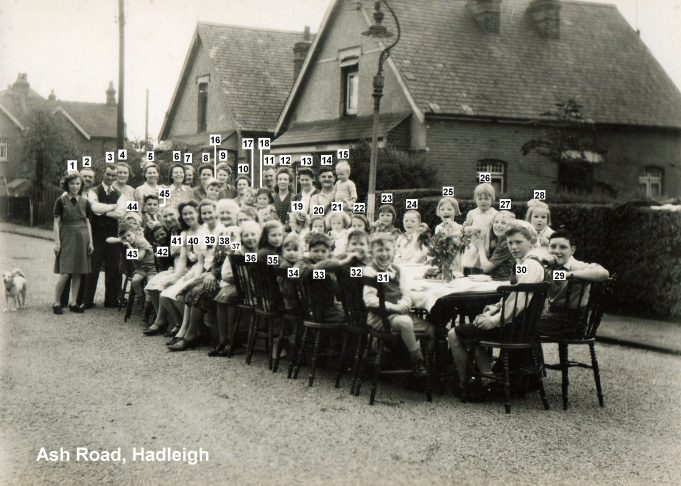 1945 VE Street Party at Ash Road, Hadleigh | Bob Delderfield