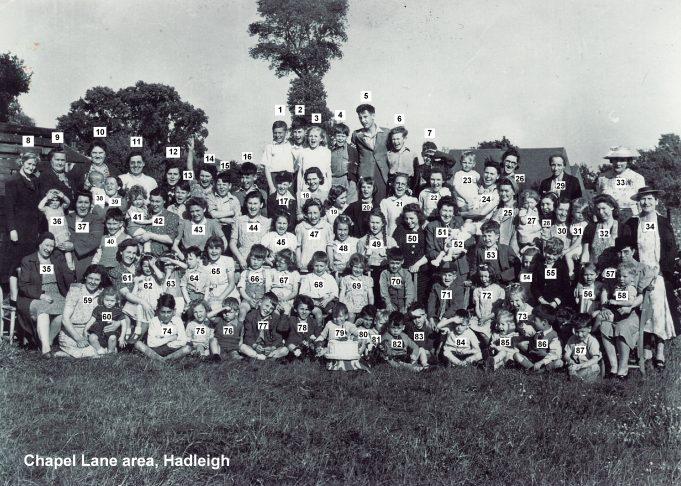 1945 VE Street Party in Chapel Lane area, Hadleigh