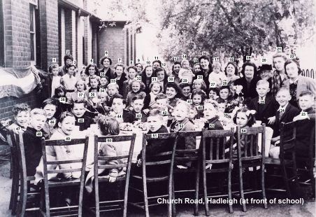 1945 VE Street Party at Church Road, Hadleigh, in the school grounds