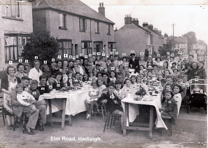 1945 VE Street Party at Elm Road, Hadleigh | Derek Barber