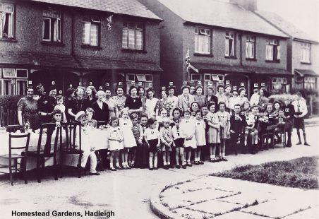 1945 VE Street Party at Homestead Gardens, Hadleigh