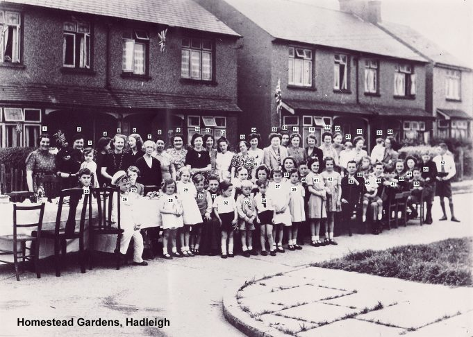 1945 VE Street Party at Homestead Gardens, Hadleigh | Derek Barber