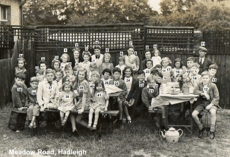 1945 VE Street Party at Meadow Road, Hadleigh