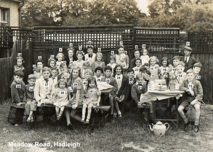 1945 VE Street Party at Meadow Road, Hadleigh | Bob Delderfield