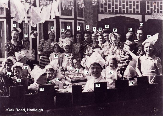 1945 VE Street Party at Oak Road, Hadleigh | Derek Barber