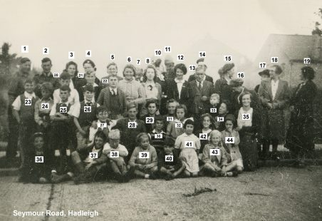 1945 VE Street Party at Seymour Road, Hadleigh
