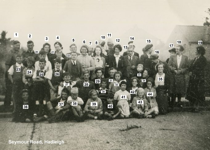 1945 VE Street Party at Seymour Road, Hadleigh | Maureen Hume