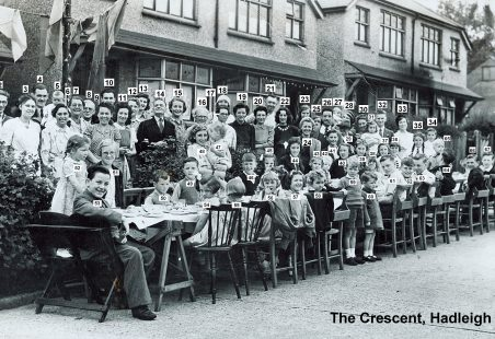 1945 VE Street Party at The Crescent, Hadleigh
