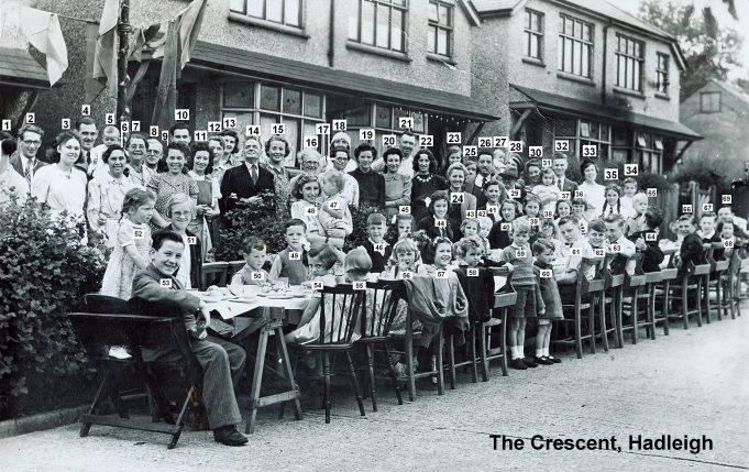 1945 VE Street Party at The Crescent, Hadleigh | Derek Barber