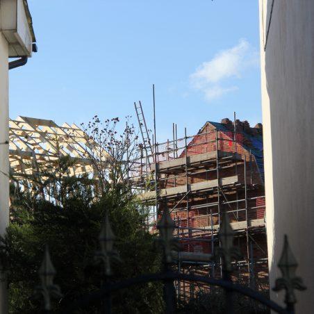 View from Daws Heath Road between properties. | Graham Cook