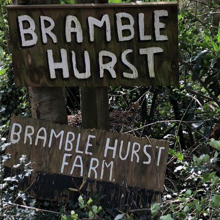Bramble Hurst farm signage. | Graham Cook