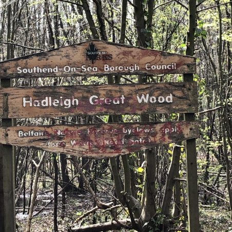 Hadleigh Great Wood signage. | Graham Cook