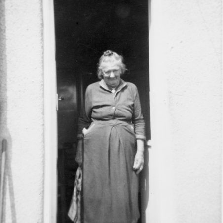 One of nan's rare exits from her cottage when she came to ours | Ian Davidson
