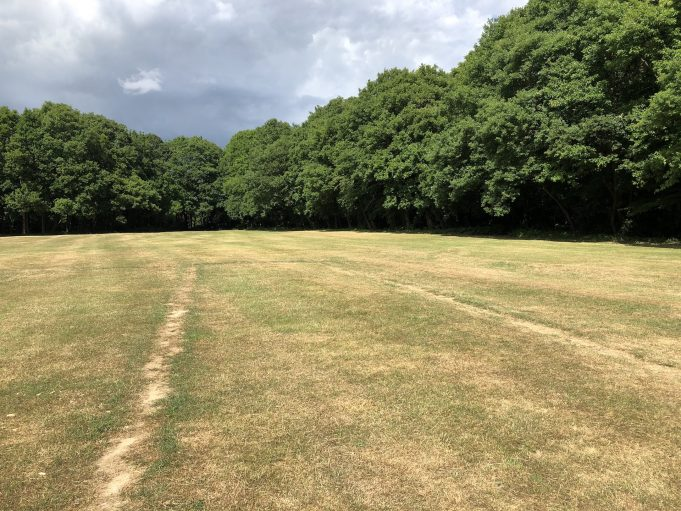 St. Michael's field has been used by Daws Heath people for many years. | Graham Cook