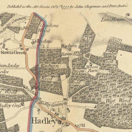 Walking through Wayburn Wood  | Chapman and André, 1777