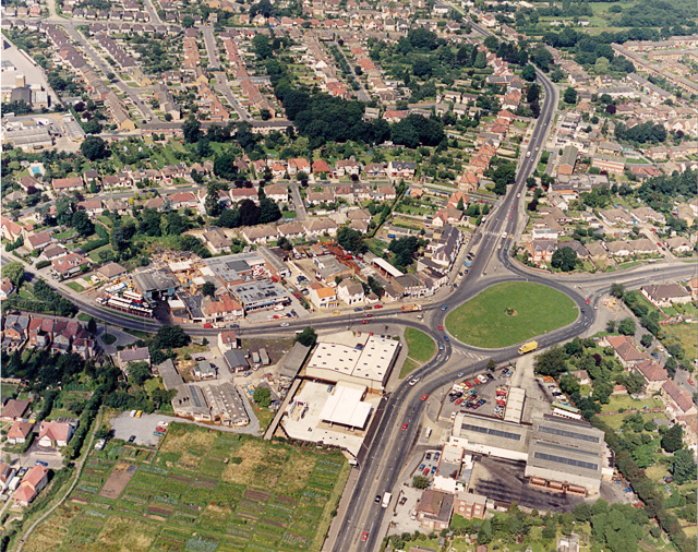 Aerial photo of Victoria House Corner | © Edward Clack - geograph.org.uk/p/1572944