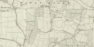 1867 Daws Heath Ordnance Survey Map | Reproduced with the permission of the National Library of Scotland https://maps.nls.uk/index.html