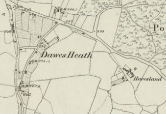 1867 Haresland Estate Area Ordnance Survey Map | Reproduced with the permission of the National Library of Scotland https://maps.nls.uk/index.html