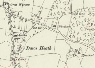1919 Haresland Estate Area Ordnance Survey Map | Reproduced with the permission of the National Library of Scotland https://maps.nls.uk/index.html