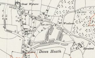 1938 Haresland Estate Ordnance Survey Map