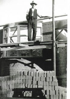 Jack Felton bricklayer at Fairmead Avenue | Thundersley & Daws Heath by Robert Hallmann