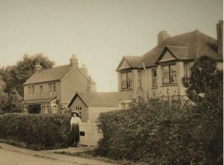 Moorcroft was the double fronted right hand property at 106 Rectory Road | Unknown source