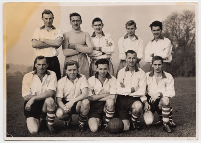 A photo of T & H Football Team - Derek Shearing is front row - second from the right
