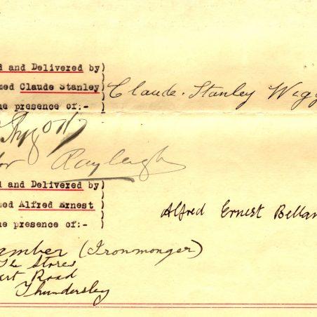 A conveyance signature section | Ralph Aldridge