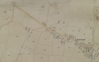 The 1847 Tithe Map showing holding 121