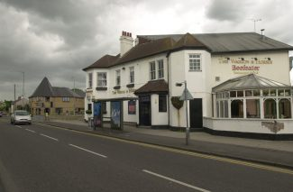 How the Waggon and Horses Pub looked