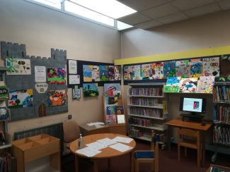 Hadleigh Junior School Pictures displayed at the famous Hadleigh Library