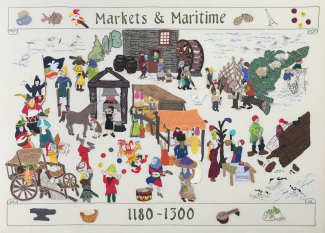 Edible resources: Rochford Heritage Tapestry | Sally Chinea
