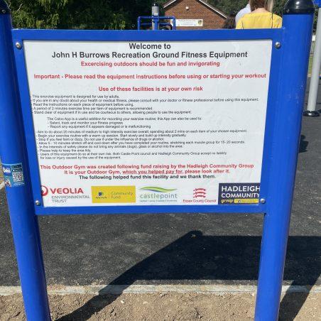 Outdoor Gym in John Burrows Park